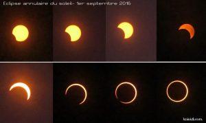 Etapes éclipse